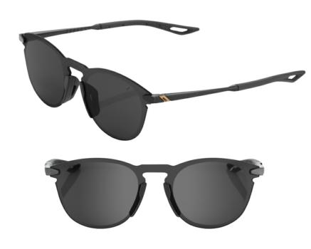 Lunettes solaires LEGERE UltraCarbon Round Polished Black Smoke lens