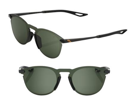Lunettes solaires LEGERE UltraCarbon Round Matte Black Grey Green Len