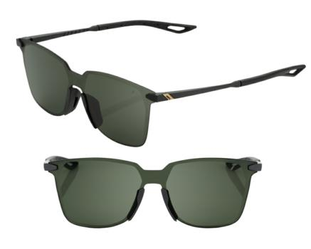 Lunettes solaires LEGERE UltraCarbon Square Matte Black Grey Green Le